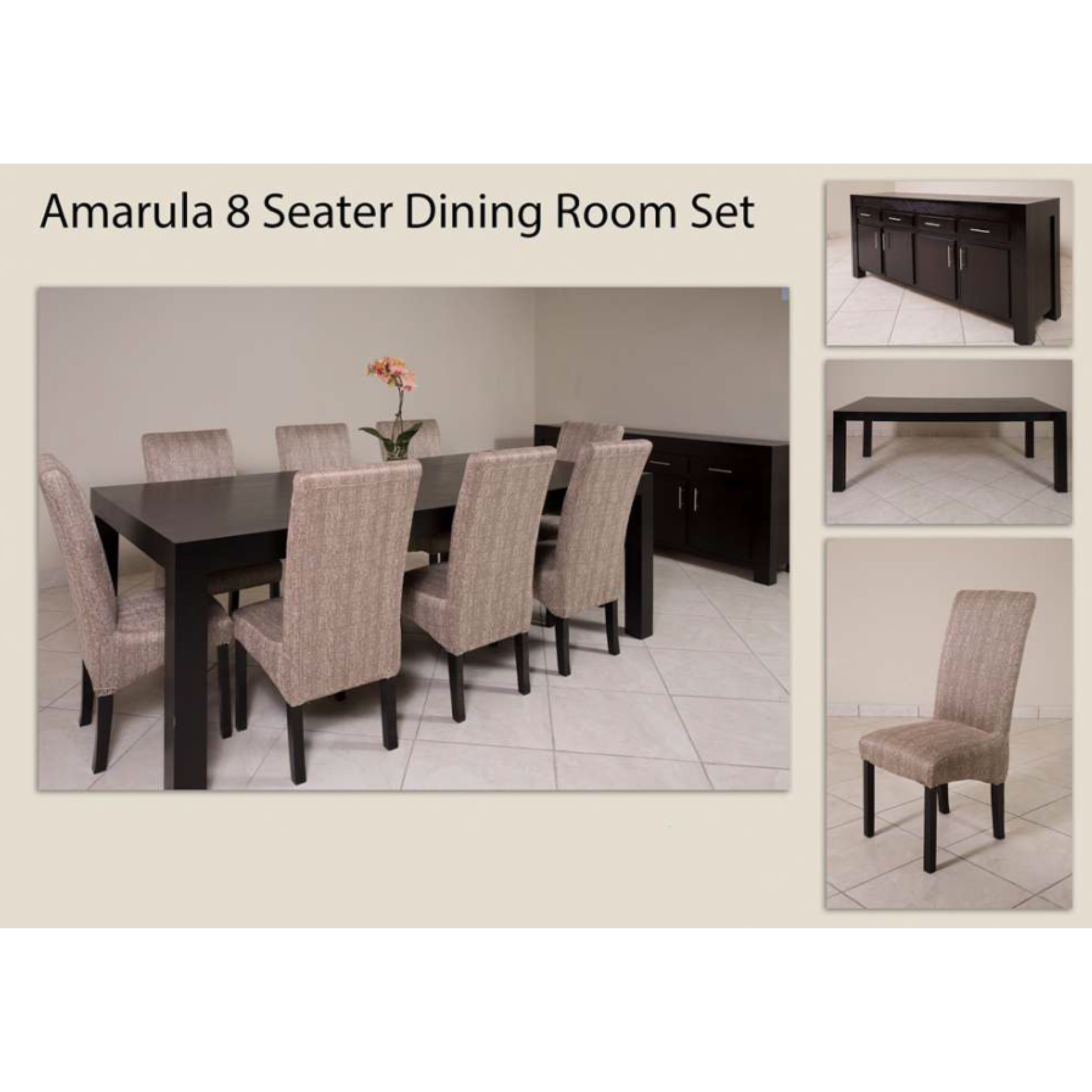 Amarula 8 Seater Dining Room Set